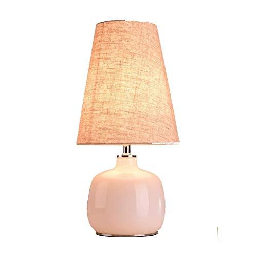 XUSHEN-HU led Lámparas de mesa, lámparas de mesa personalidad simple, dormitorio de noche, lámpara de Pastoral cálido, minimalista nórdico creativo decorativo de cristal claro de lámparas de mesa, luz