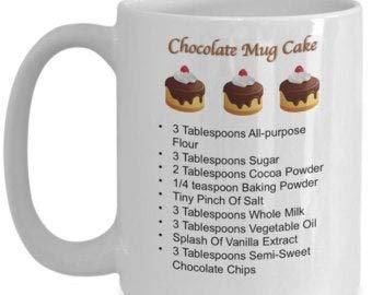 Taza de recetas de tartas, taza de pastel en una taza, taza de recetas, taza de chocolate, comidas en una taza, taza de recetas