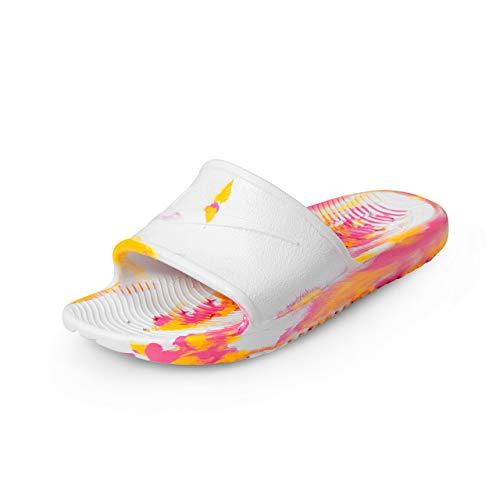 Nike Wmns Kawa Shower Marble, Scarpe da Spiaggia e Piscina Donna, Multicolore (White/Laser Fuchsia/Laser Orange 000), 35.5 EU
