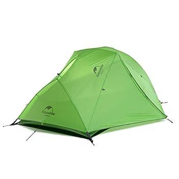 Naturehike Star-River Tente Double Couche Ultralégère 2 Personnes Tente de Randonnée Tente de Camping de Randonnée étanche (20D Vert)