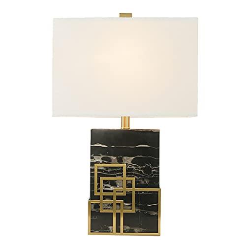 Lámpara de mesa Lámpara de mesa de mármol de Blackstone Moderno de lujo de lujo de estilo minimalista lámpara de oficina americana lámpara de oficina para leer aprendizaje Lámpara de Mesita
