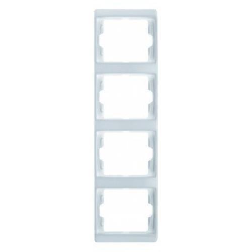 Hager ARSYS BERK Rahmen 13430069 4fach senkrecht polarweiss