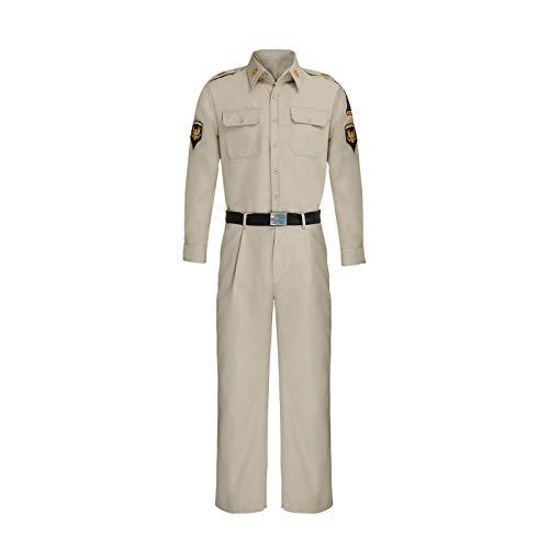 NUWIND Chad Gates - Uniforme de soldado del ejrcito para hombres, disfraz de hroes, camisa general, pantalones de corbata, disfraz de cosplay de Halloween