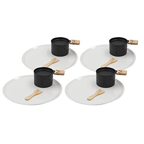 Koekje LUMI-Raclette Kaas Individuele Set voor 4 met Borden