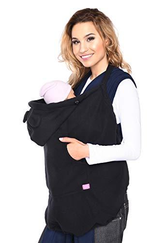 Mija - Tragecover, Universal Bezug für Baby Carrier/Tragetücher/Cape 4022 (Schwarz)