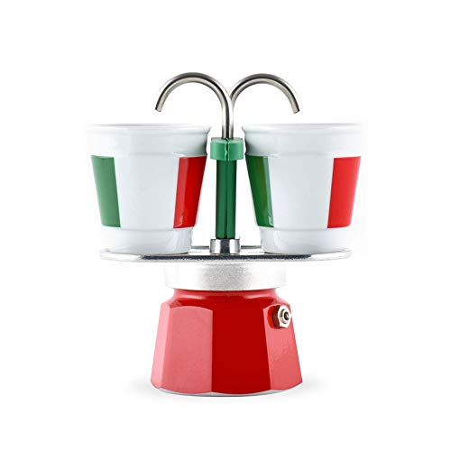 BIALETTI 006196 Kaffeebereiter Mini Express + 2 Tassen Bicchierini Italia