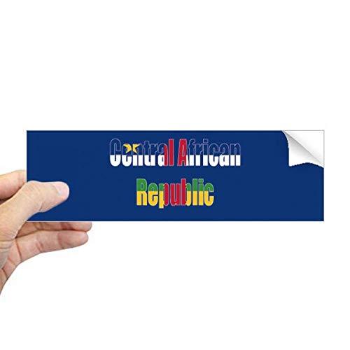 DIYthinker Centraal-Afrikaanse Land Vlag Naam Rechthoek Bumper Sticker Notebook Venster Sticker