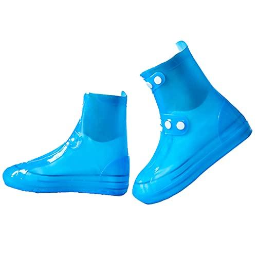 Cubierta para zapatos, impermeable, reutilizable, cubierta para zapatos de lluvia en días lluviosos y nevados, Blue, XX-Large/3X-Large