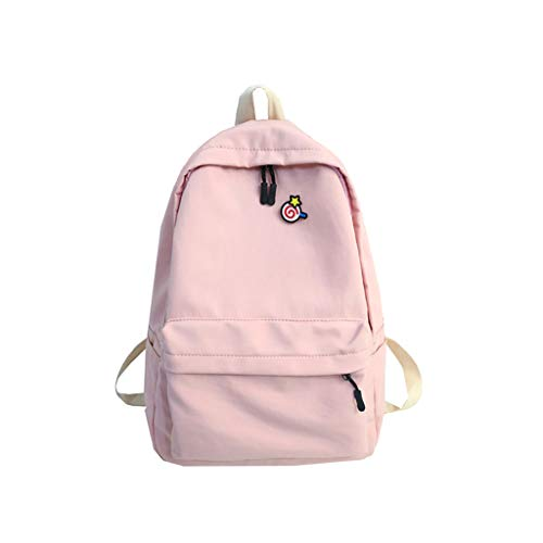 VECOLE Rucksäcke Damen Süße Studententasche mit Lutscherdruck Wasserdichtes Nylonmaterial Reisetasche mit großer Kapazität Schulranzen Outdoor-Shopping Reiserucksack(Rosa)