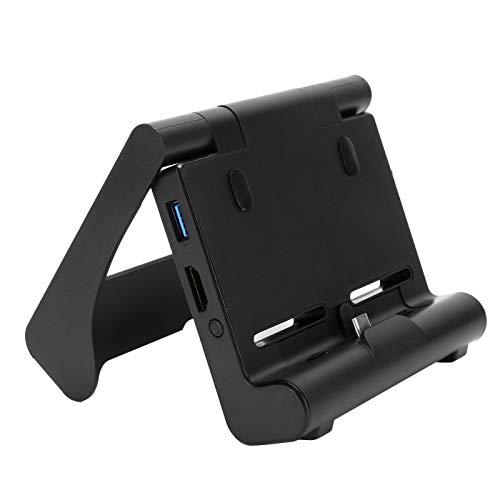 FOLOSAFENAR Rendimiento Estable Soporte de Cargador de 3 Salidas USB Consola Base de Carga Ajuste de múltiples ángulos Peso Ligero para Nintendo Switch