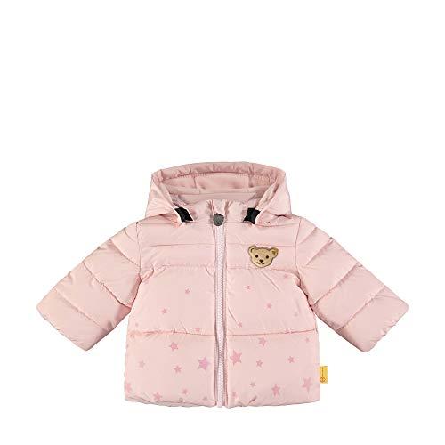 Steiff Baby-Mädchen mit süßer Teddybärapplikation Jacke, Rosa (Barely Pink 2560), 068