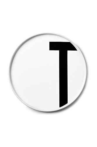 Design Letters - Teller Porzellan - Buchstabe: T - Arne Jacobsen
