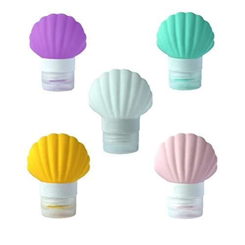 5pcs / Pack Bouteilles Shell Voyage En Silicone Tsa Bouteilles De Voyage Approuvées Portable Liquid Container De 3oz