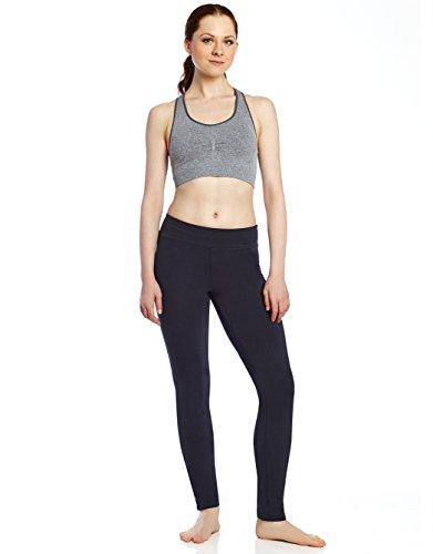 Leveret pantalones de yoga de algodón para mujer, pantalones de bota para entrenamiento, leggins (talla XS a XL) -  Azul marino -  Small