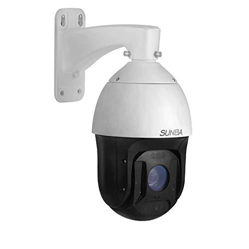 SUNBA 1080p Seguimiento automático para exteriores 25x Zoom óptico Cámara IP PoE+ PTZ, RTMP y micrófono incorporado, Visión nocturna por infrarrojos de 300m (Illuminati)