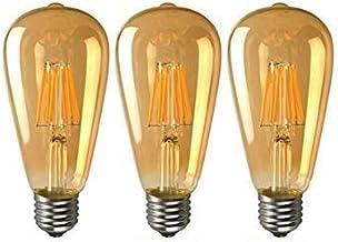 KLED LED Vintage Edison Bulb, Dimmable, ST64 8W (70W Equivalent), LED Filament Bulb, 750 Lumen, 2700K (Warm White), Medium...