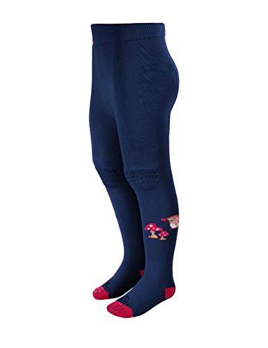 maximo Baby-Jungen Igel Halbplüsch Knie Sohle beschichtet Strumpfhose, Blau (Indigo 4), (Herstellergröße: 74/80)