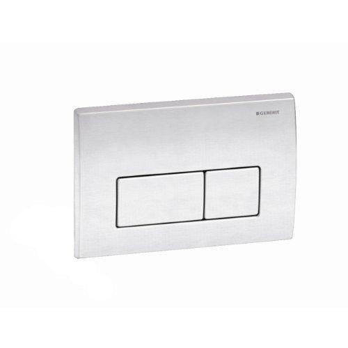 Geberit 115.258.00.1 Kappa50 Dual-Flush Actuator, Brushed Stainless Seel by Geberit