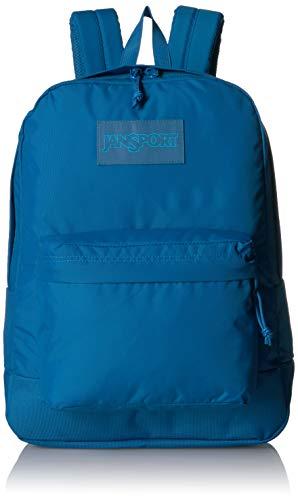 JanSport Mono SuperBreak Backpack - Monochrome Trend Collection Laptop Bag, Blue Jay