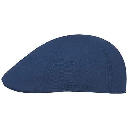 Stetson Texas Cotton Flatcap mit UV Schutz 40+ - Schirmmütze aus Baumwolle - Unifarbene Mütze Frühjahr/Sommer blau L (58-59 cm)