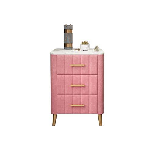 TXXM Nachttisch Schlafzimmer Spind, Schlafzimmer Nachttisch, Wohnzimmer Locker, Wohnzimmer Sofa Seitenschrank (Color : Pink)
