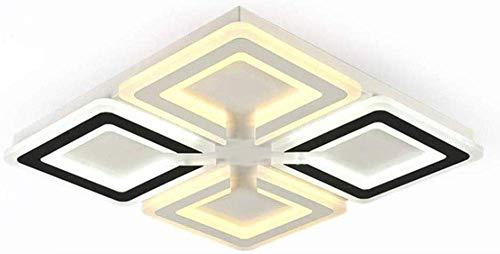 KMMK Candelabro decorativo para el hogar, lámpara de techo led moderna con control remoto, luz regulable, dormitorio, comedor, sala de estar, decoración, lámpara