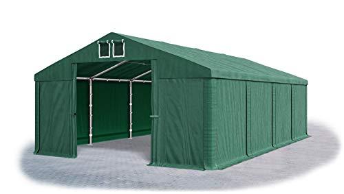 Das Company Lagerzelt 5x8m wasserdicht dunkelgrün Zelt 560g/m² PVC Plane hochwertig Zelthalle Summer SD