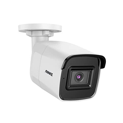 4K HD PoE Caméra de Sécurité Ultra HD 8MP IP pour Kit de vidéosurveillance ANNKE H.265 Vision Nocturne EXIR Caméra de sécurité IP67 avec détection de Mouvement …