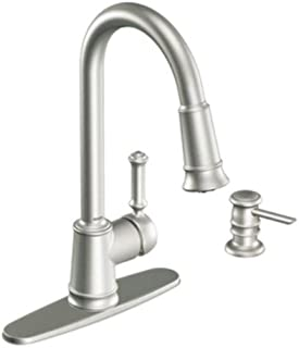 Moen CA87012SRS Pullout Spray High-Arc Kitchen Faucet with Reflex Technology from the Lindley Collection, Spot Resist Stainless