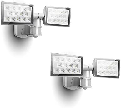 2 Packs LUTEC 6294 PIR 3000 Lumen 32 Watt 214 LED Motion Activated Intergrated Dual Head Floodlight product image