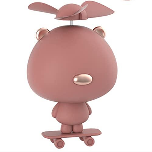 QIFFIY Handheld Fan Pequeño USB Carga portátil Dibujos Animados Skateboard Regalo Mute Pocket Wind Force Estudiante Dormitorio Oficina para Llevar (tamaño : APink Bear Ears)