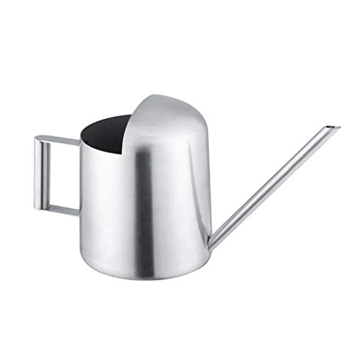 BiuBuy Metal Watering Can Solid Stainless Steel Pot with Long Spout Small Size for Bonsai Indoor Plants