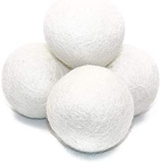 Laundry Wool Dryer Ball Reusable Eco-friendly New Zealand Pure Organic Wool Premium Natural Fabric Softener Safe For Your Life 6XL/Pack