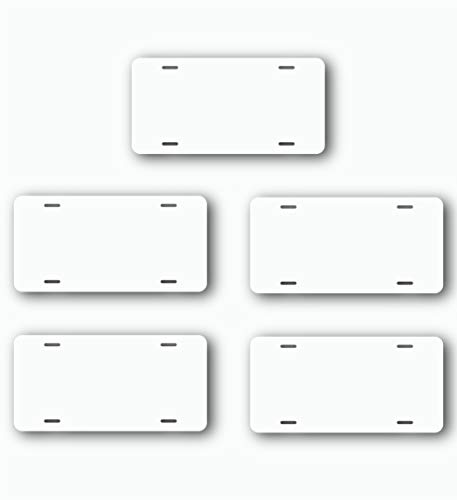 License Plate Blank (5, White)