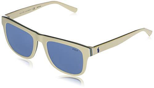 Polo Ralph Lauren PH4161-583072-52 - Gafas de sol para hombre, color crema, azul, amarillo y azul