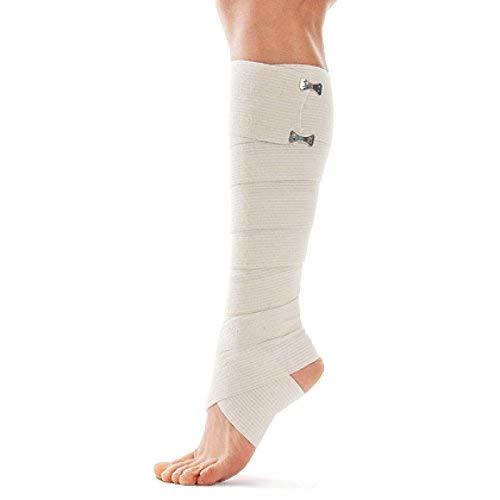 Benda Elastica Compressiva-Bendaggio Elastico Rullo di compressione con fermagli in metallo-Benda elastica adesiva-bendaggio elastico nastro - 8cm x 2,5m Beige