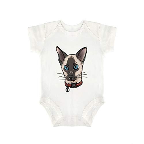 DKISEE Mono de gatito balinés con cara de gato y gatos divertido regalo cómico lindo novedad divertido bebé niño niña