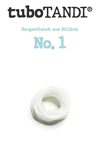 tuboTANDI Saugschlauch No. 1 MFT-Hilfsmittal nach Padovan für Logopädie und Keferorthopädie, 1mm Durchmesser, 5 Meter Länge, Made in Germany/Berlin