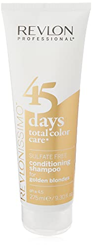 REVLON PROFESSIONAL 45 Days Total Color Care 2-in-1 Shampoo & Conditioner,Golden Blondes,1er Pack (1 x 275 ml)