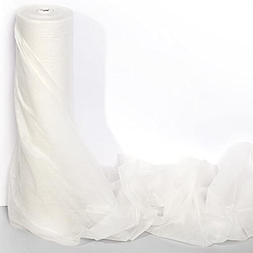 Anderson's White Gossamer Wedding Decorating Fabric, 59 Inches x 100 Yards