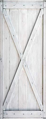 A.Monamour Pegatinas Decorativas de Puerta Autoadhesivo 3D Tablones De Madera Tableros De Madera Puerta De Granero Textura Vinilo para Puertas Mural PVC Pegatinas de Pared Foto Poster 90 x 200
