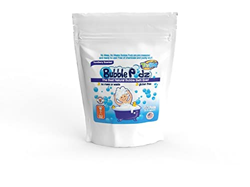 TruKid Bubble Podz for Baby, Refreshing Bubble Bath for Sensitive & Soft Skin, Tear Free Bath Bubbles, Enriched with Vitamin E, Aloe and Oatmeal, Yumberry Scent, All Natural Ingredients (60 Podz)