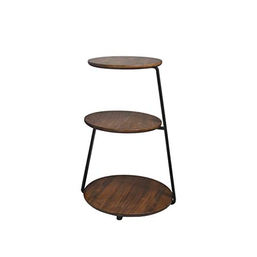 LICHUAN Coffee Table End Tables Black Walnut Modern Minimalist Sofa Side Table Living Room Removable Small Coffee Table 14.96 × 14.96 × 26 Inches Side Table living room
