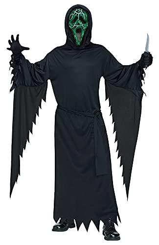 MIMIKRY Disfraz original de fantasma con máscara luminiscente, talla L/XL, para Halloween, terror, película Scary Movie
