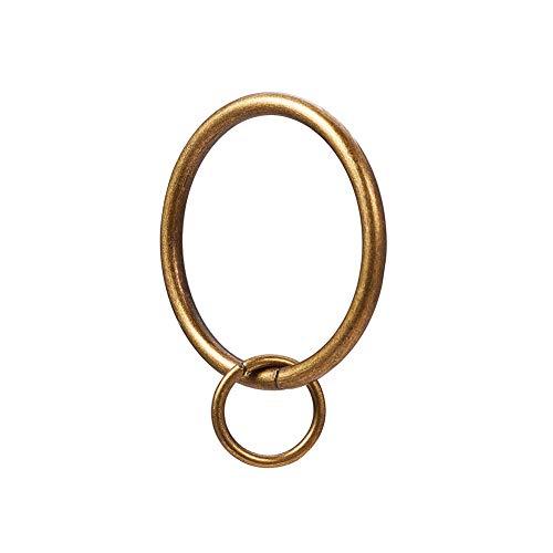 INCREWAY 16 Stücke Ringe Vorhang Clips, 37mm Vintage Eisen Gardinenringe Gardinen Hängender Ring