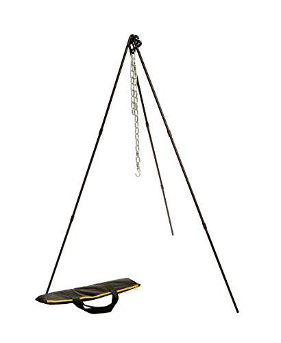 Lodge ATP2 Adjustable Camp Tripod, 40 to 60-Inch Tall, Black