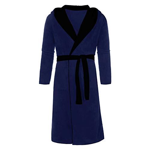 Herren Winter Plus Size Mittellanger Bademantel Langarm Robe Bademantel Pyjama...