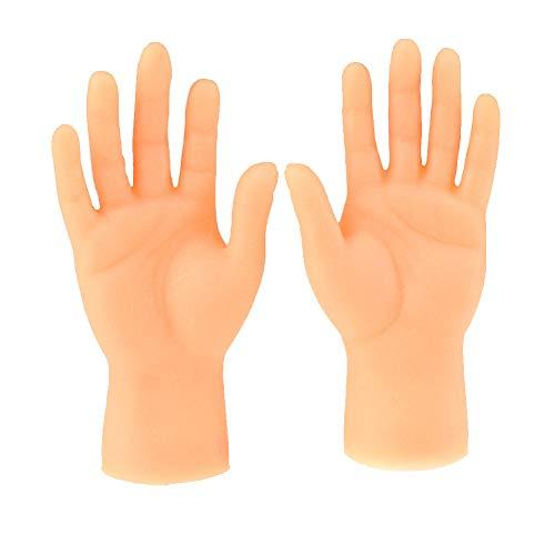 Apofly Tiny Hand Fingerpuppen Kleiner Finger Props für Storytelling Mini Hand Prank Spielzeit Supplies Karneval-Partei-Bevorzugungen Weihnachten für Erwachsene 1 Paar