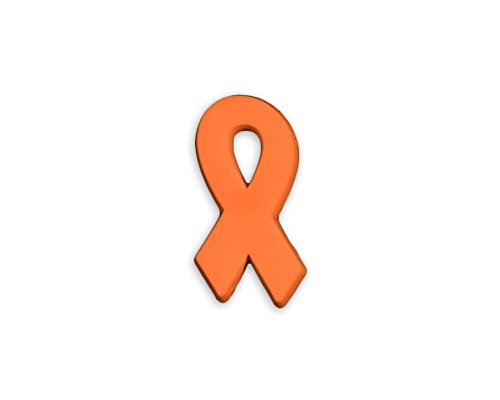 50 Pack Gun Violence/Mass Shooting Awareness Orange Silicone Ribbon Pins. March for Our Lives Pins - Gun Control (50 Pins in Bulk)