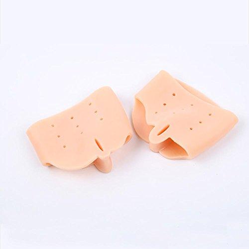 Gel Toe Separators Oignon Correcteur Protecteur pour souliers d'oignon, orteils de marteau, Hallux Valgus, redresseurs d'orteils pour les danseurs, les yogis et les athlètes, skin color